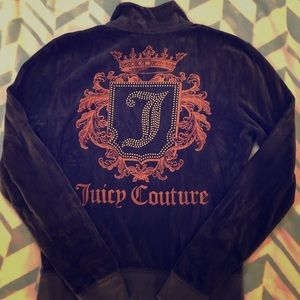 Juicy Couture navy zip-up jacket